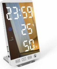 Premium Commerce Luxe Digitale Wekker - Slaapkamer - Wit - Inclusief verwijderbare standaard!