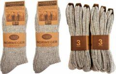 Naft Noorse Sokken Grijs - 6 paar - Maat 39-42