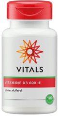 Vitals Vitamine D3 600 IE Voedingssupplement - 100 capsules