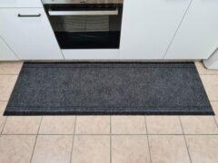 Ihlasim decoratie ID vloerkleed keukenloper grijs 66cm*2,5 meter