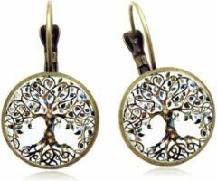 Betoverende oorbellen Tree Of Life Semyco® - Mandala - Oorhangers - Yoga hanger - Spirituele sieraden - Meditatie - Goudkleurig - Wit - Vrouwen cadeautjes romantisch - Moeder cadeau
