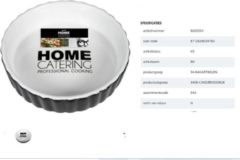 Witte Gusta Home Klassieke mini taartvorm ø11,5x3cm