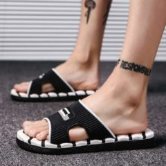 Mens Slippers Flip Flops Summer Men's New Style Rubber Soft Shoes Outdoor Beach Sandals Men's Slippers Massage Men Footwear 2018