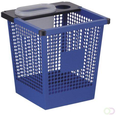 Afbeelding van Blauwe V-Part Vierkant tapse geperforeerde papierbak