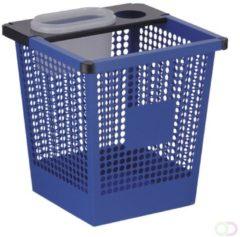 Blauwe V-Part Vierkant tapse geperforeerde papierbak