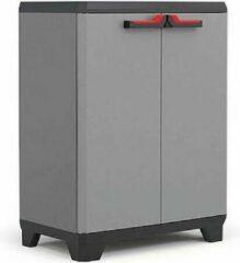Kis Keter Stilo Low cabinet - 1 Plank - 680x390x900 cm - donker grijs/zwart