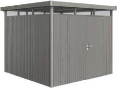 Biohort tuinhuis HighLine H4 enkele deur kwarts grijs metallic 275x275cm