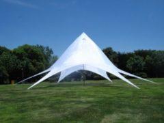 CLP Stabiles & hochwertiges XL Sternzelt mit 14 m Durchmesser (überdachte Fläche ca. 40 m²) erleben Sie die neue XL Zeltdimension