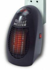 Zwarte Starlyf Fast Heater Black - Mini elektrische heater verwarmen kleine ruimtes – ventilatorkachel – draagbare verwarming - draadloze heater