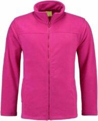 Roze L&S Fuchsia fleece vest met rits voor dames S (36)