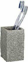 Wenko Tandenborstelhouder Graniet 10,5 X 6 Cm Polyresin Naturel