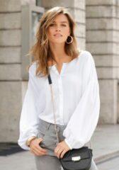 Witte Lascana blouse met lange mouwen in oversized model