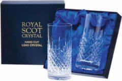Transparante Royal Scot Crystal - London 2 Tall Tumblers Presentation Boxed