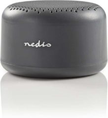 Grijze Nedis Bluetooth® Speaker | 9 W | Up to 3 Hours Playtime | Grey