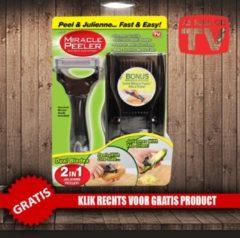 Zwarte Miracle Peeler - Dual-Blade Julienne Peeler with Mandoline - Gratis Oramint Oral Care Kit - 6 Delig