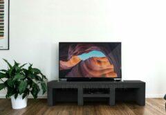 Zwarte Betonlook TV-Meubel open vakken met legplank | Black steel | 100x40x40 cm (LxBxH) | Betonlook Fabriek | Beton ciré