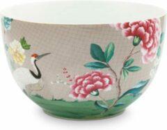 Witte Pip Studio Blushing Birds Bowl 23 cm - khaki