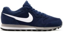 Marineblauwe Nike Md Runner 2 Heren Sneakers - Midnight Navy/White-Wolf Grey - Maat 40.5