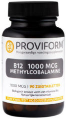 Proviform Vitamine B12 1000 mcg methylcobalamine 90 Zuigtabletten