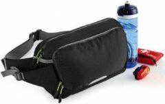 Quadra Hardlopen Sport Heuptasjes In Het Zwart - Jogging/running Sport Tasjes