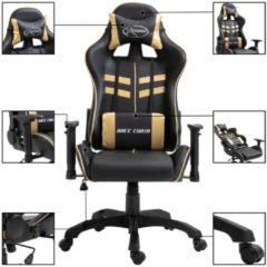 Zwarte VidaXL Gamingstoel kunstleer goudkleurig
