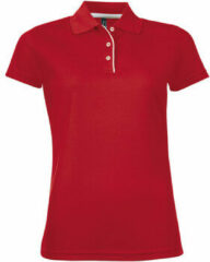 Rode Polo Shirt Korte Mouw Sols PERFORMER SPORT WOMEN