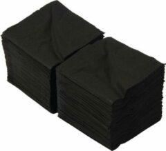 FASANA Zwarte papieren servetten - Vierkant 25cm x 25cm - 2000 stuks