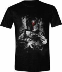 Star Wars - Boba Fett Distressed Heren T-Shirt - Zwart - S