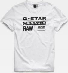 G-Star RAW G-star T-Shirt Wit Met Zwarte Opdruk (D14143 - 336 - 110)