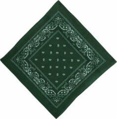 Fako Fashion® - Bandana - Hoofddoek - Mondbescherming - Zakdoek - Paisley - Donkergroen