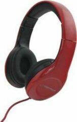 Esperanza EH138R hoofdtelefoon/headset Hoofdtelefoons Hoofdband 3,5mm-connector Zwart, Rood
