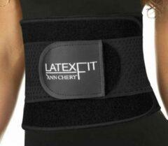 Ann Chery – Latex Fitness Gordel - Extra ondersteunend - Zwart - Maat 2XL (kledingmaat 42/44)