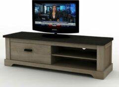 Zwarte Fineliving Tv-meubel Wales 150 cm sonoma grey oak decor