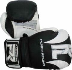 PunchR™ Punch Round Bokshandschoenen SLAM Mat Carbon Zwart Wit 10 OZ Bokshandschoenen