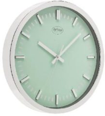 Groene Balance Wall Clock 30 cm Analogue Silver/Green