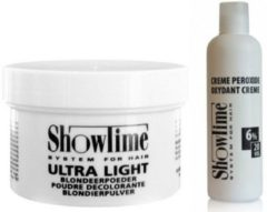 [Combo]Showtime Ultralight Blondeerpoeder (100gram) + Showtime Oxidant Creme Peroxide 6% - (250ml)