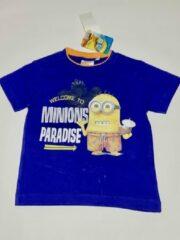 Minions T-shirt - Minions Paradise - blauw - maat 98/104 (4 jaar)