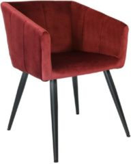Kick Collection Kick Eetkamerstoel Velvet Liv - Rood