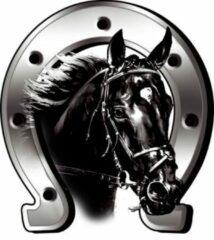 Zilveren AutoStyle Sticker Horse + Horseshoe - 6x7cm