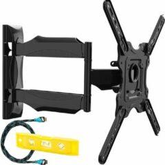 Zwarte Invision® TV Muurbeugel X-design | Geschikt voor 26-55 Inch tot 40 kg | Draai- en kantelbaar | Muur steun ophang arm | Wandbeugel kantelbaar | Geschikt voor elk merk | Grote draaihoek | Monitor stand