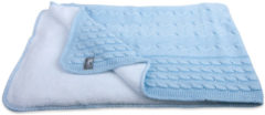 Baby's Only Baby's Only Wiegdeken Kabel Teddy Baby Blauw 70 x 95 cm