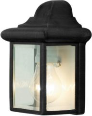Brilliant - NEWPORT - Buitenlamp - 44280/06 - E27 - IP23 - zwart en transparant