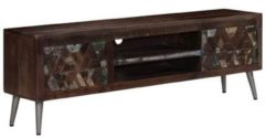 Bruine VidaXL Tv-meubel 140x30x45 cm massief gerecycled hout