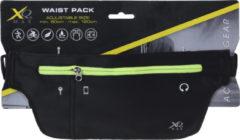 Zwarte XQ Max Waist Pack Sportriem Hardloop Heuptas 90-200 cm