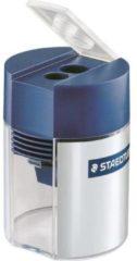 Staedtler Dubbele puntenslijper tonmodel 512 001 Blauw-zilver (fluorescerend) ATT.LOV.MODEL CONTAINER=Blik