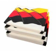 50x Duitsland Landen Thema Servetten 33 X 33 Cm - Papieren Wegwerp Servetjes - Duitse Versieringen/decoraties