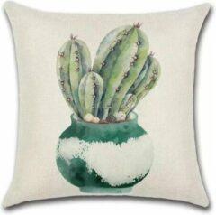 Blauwe By Javy Cactus - Laure - Kussenhoes - 45x45 cm - Sierkussen - Polyester