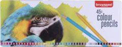 Bruynzeel kleurpotlood Papegaai, metalen doos met 45 potloden