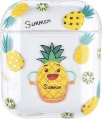 "Greenz products AirPods Case ""Summer Ananas"" - Airpods hoesje - Airpods case - Beschermhoes voor AirPods 1/2"