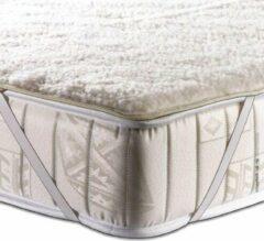 Creme witte Terschellinger Wollen onderdeken |100% IWS Zuiver Scheer wollen topper |Puur Natuur topdek |180x220cm lits jumeaux (Extra lang)